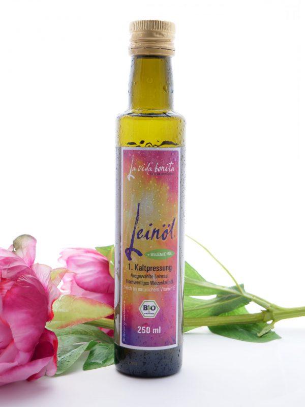 frisches Leinöl, omega 3, la vida bonita